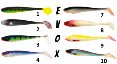 Силиконова рибка - Evox